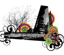 City urban Tree swirl circle