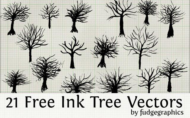 Ink Trees Tree Vector