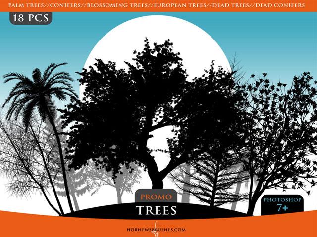 Trees Promo Brush Pack Tree Vector