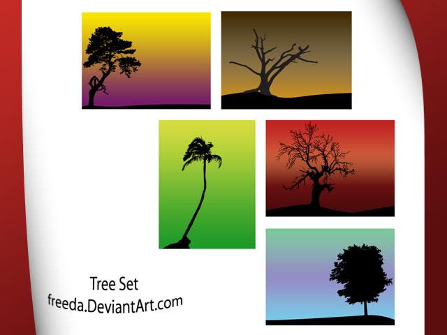 Vector tree set Tree Vector
