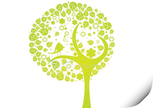 Botanical vector art – abstract tree Tree Vector