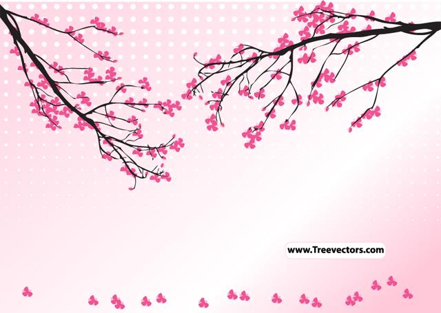 Blossom Tree Vector Tree Vector