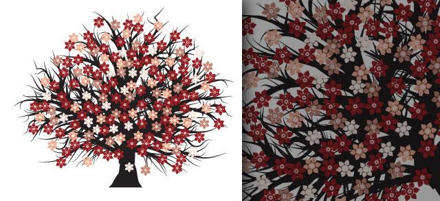 Free vector blossomed tree Tree Vector