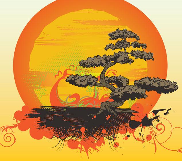 Bonsai Tree Vector Tree Vector