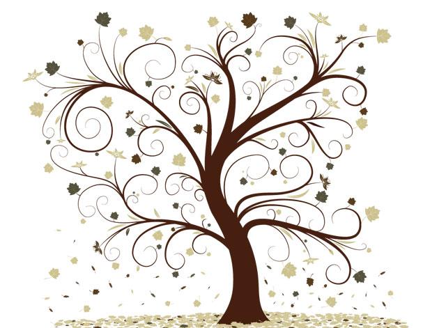 Curly Tree Tree Vector