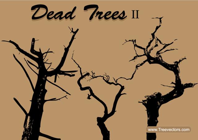 Free Dead Tree Silhouette Vector Tree Vector