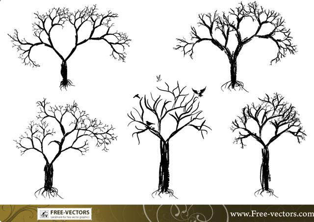Free vector tree set Tree Vector