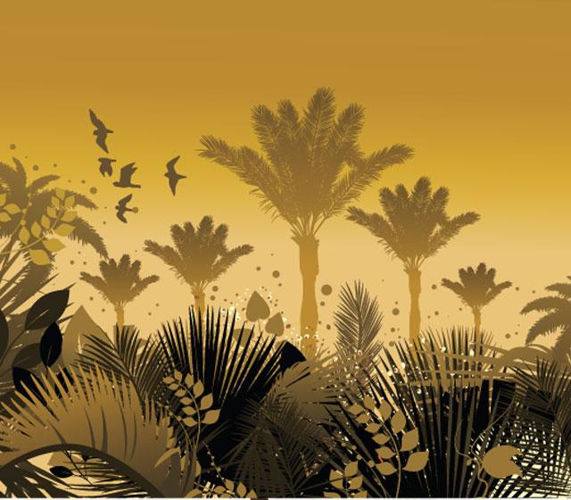 Tree vector illustration – Summer background Tree Vector