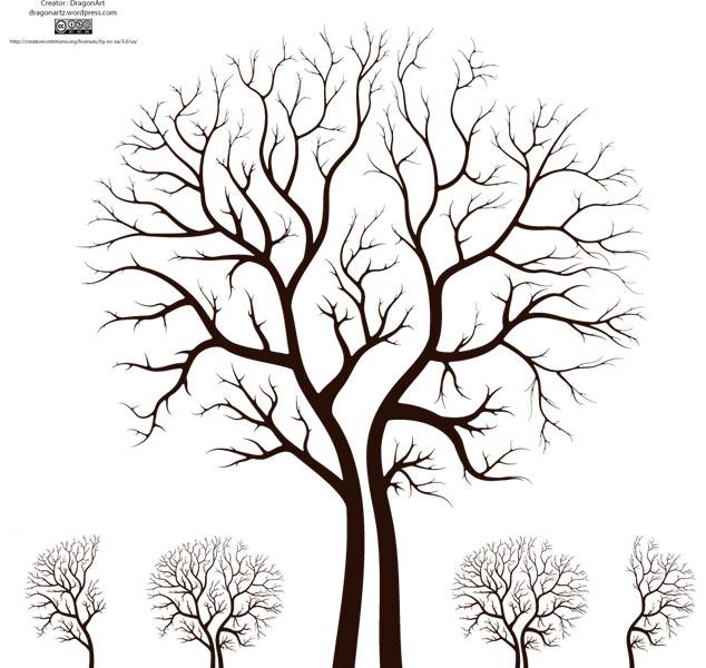 Leafless Autumn Tree Design Vector Tree Vector